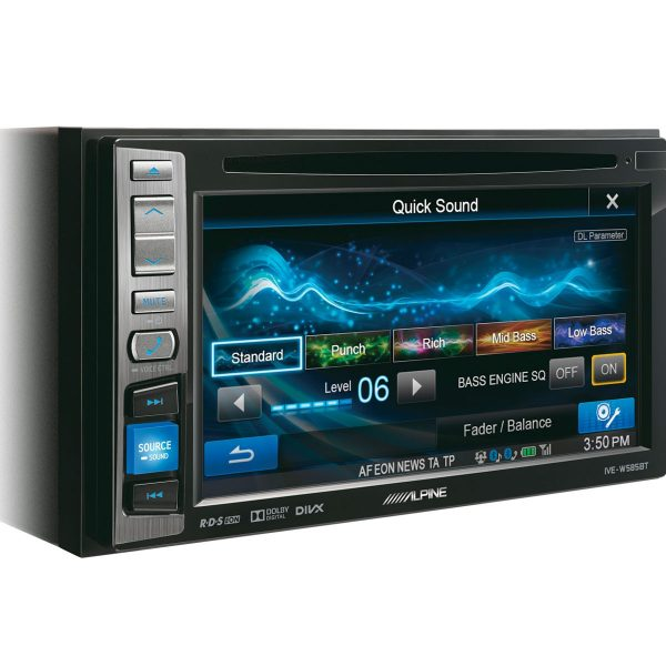 "Alpine IVE-W585BT - 6.1"" Double Din CD, DVD, USB, Bluetooth Screen"